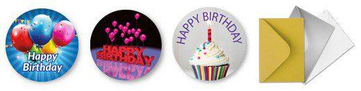 Free Birthday Stickers & Coloured Envelopes