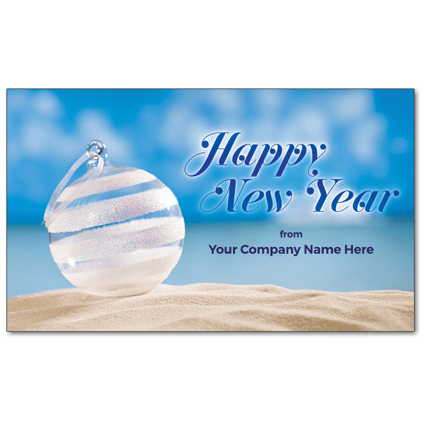 C193 - Custom Beach Bauble - New Year