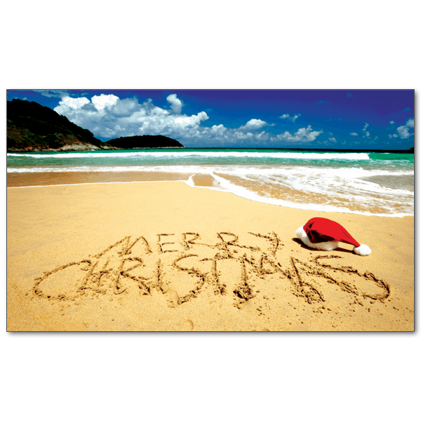 Beach Christmas Cards >> C342 Christmas On The Beach