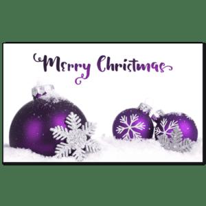C420 - Frosty Purple Baubles