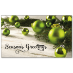 C442 - Green Baubles And Branch