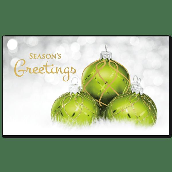 C454 - Glittery Green Ornaments