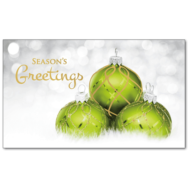 C454 Glittery Green Ornaments