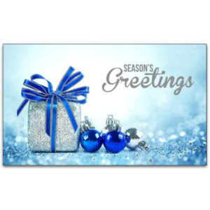 C482 Blue Baubles and Present